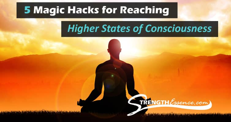 Reaching Higher States of Consciousness / Reach Higher Levels of Awareness Graphic