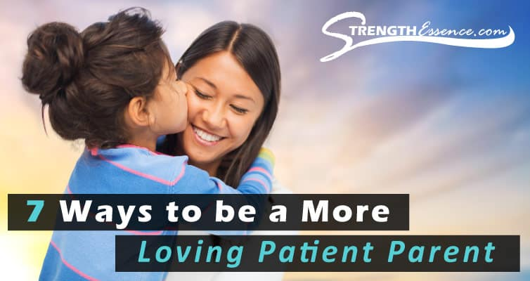 Loving patient mom adoring her daughter / Patient loving parent with child