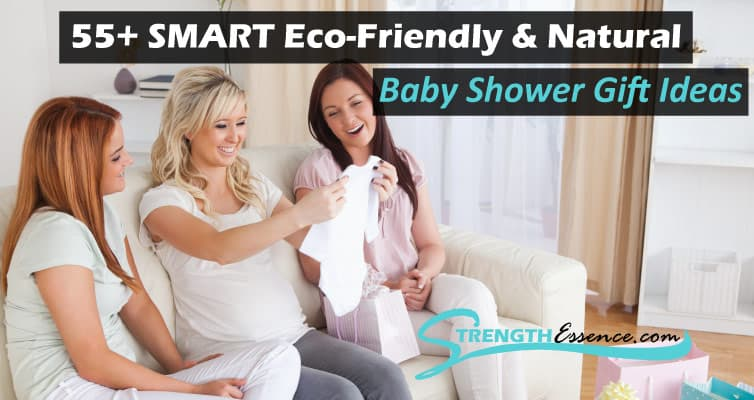 Women getting gifts at eco-friendly & natural baby shower