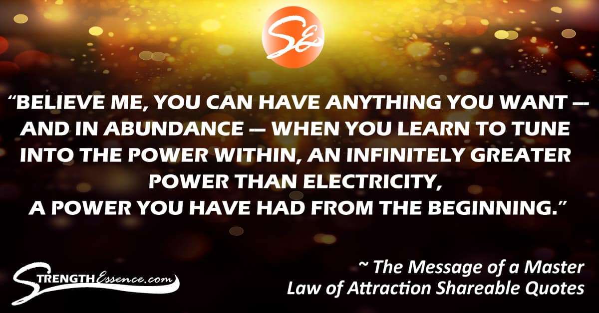 Law of Attraction Quotes 4 Shareable Content for Social Media Facebook / The Message of a Master