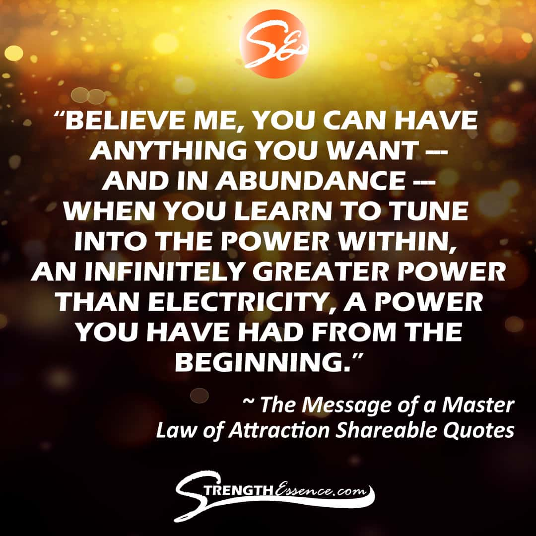 Law of Attraction Quotes 4 Shareable Content for Social Media Instagram / The Message of a Master