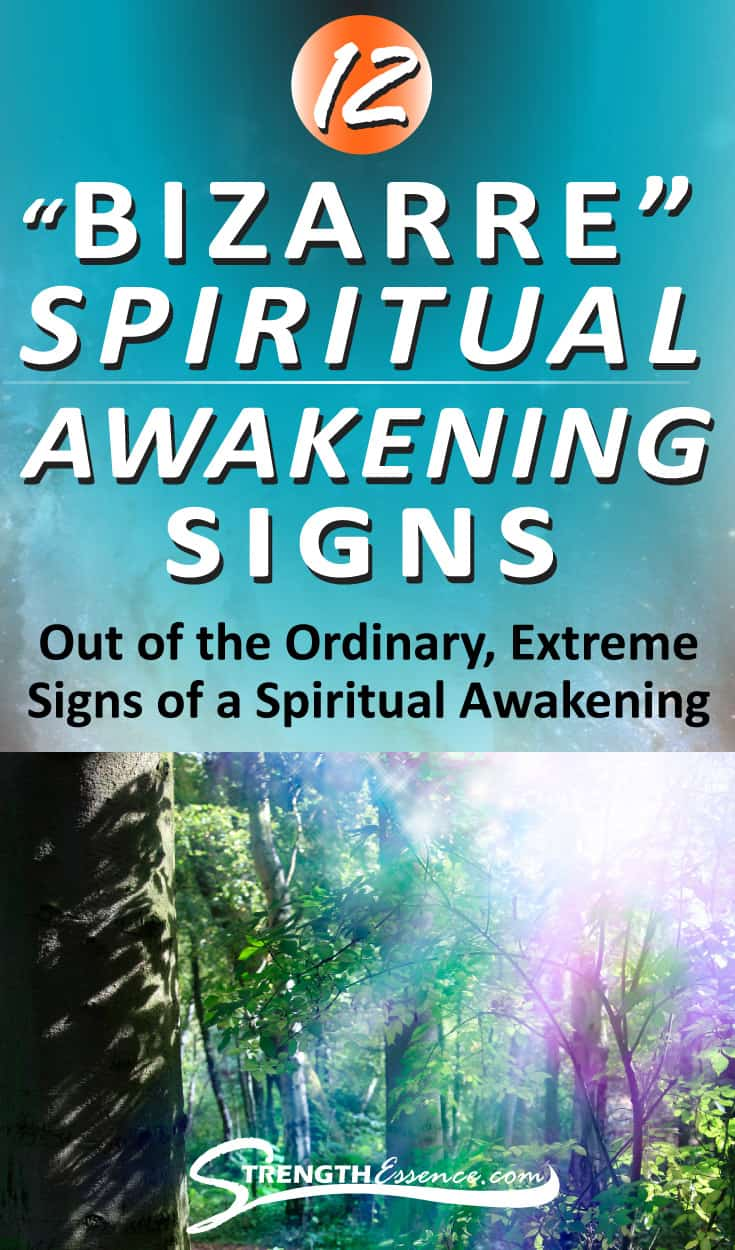 Are you going through or have gone through a Spiritual Awakening? There are many common signs of a Spiritual Awakening that are easy to discern such as more love and forgiveness for humanity. These Spiritual Awakening Signs are truly BIZARRE and extreme, but do happen! Are you experiencing any of the crazy spiritual awakening signs? #spiritual #spirituality #spiritualawakening #spiritualawakeningsigns