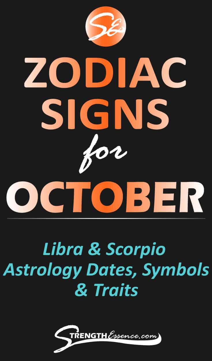 Are you or someone you know born in October and you'd like to know the OCTOBER ZODIAC SIGN? Click to discover October astrology dates, signs, symbols & traits! #zodiac #zodiacsigns #zodiacsignsoctober #astrology #astrologysigns #birthstones #birthstonejewelry #astrological #astrologicalsigns