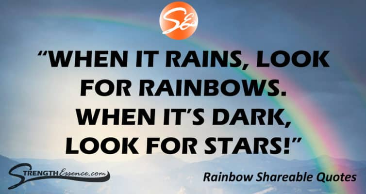 rainbow quotes images for facebook, twitter, instagram & pinterest