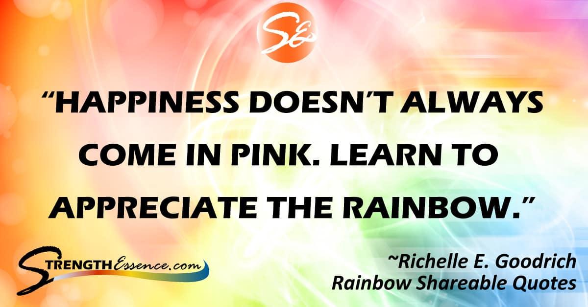 motivational rainbow quotes