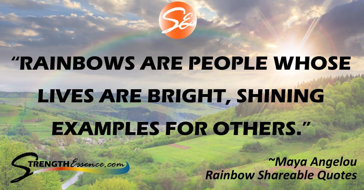 maya angelou rainbow quote