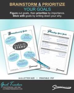 goal tracker printable .pdf