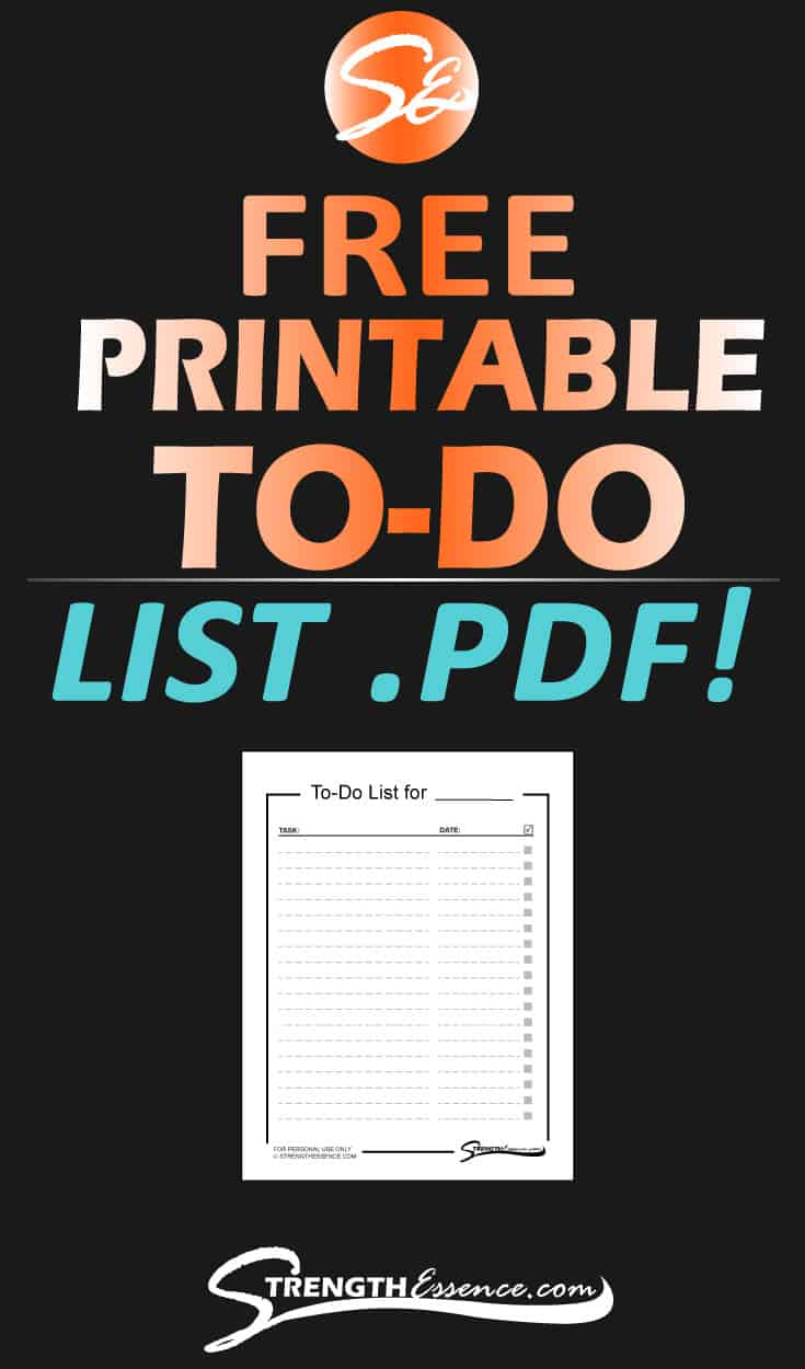 FREE Classic Minimalist Design Printable To Do List .PDF to Download! Get all your chores, to-dos, and honey-do lists completed with this handy dandy FREE to do list! #freeprintable #todolist #templates #free #freebie