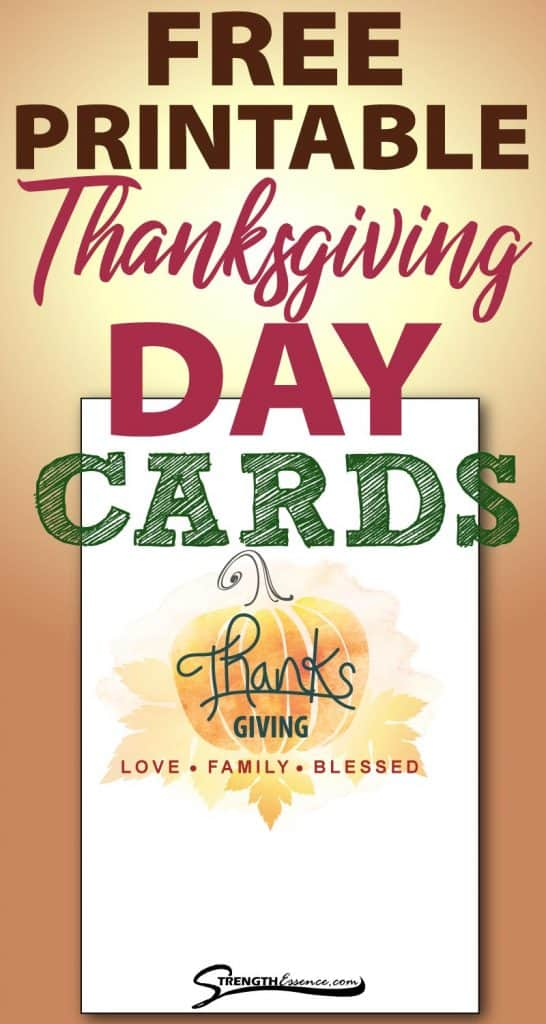free printable thanksgiving day cards