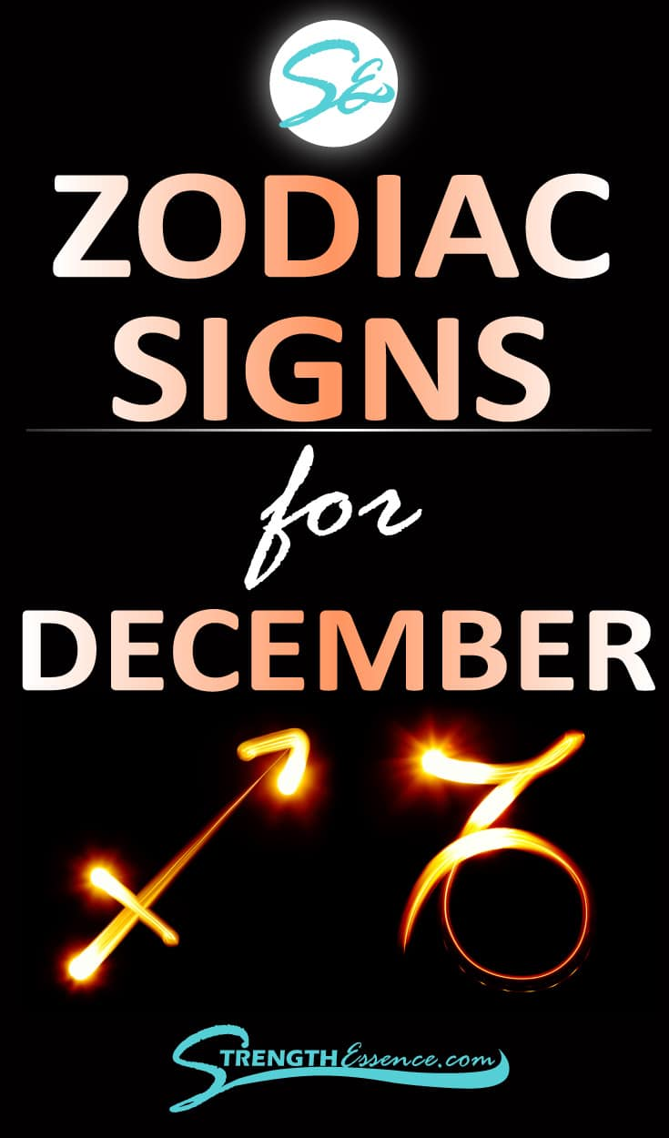 Are you or someone you know born in December and you'd like to know the DECEMBER ZODIAC SIGN? Click to discover December astrology dates, signs, symbols & traits! #zodiac #zodiacsigns #astrology #astrologysigns #astrologicalsigns
