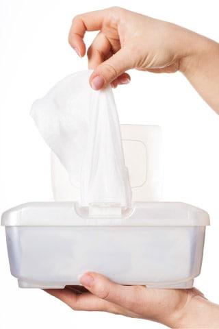 flushable wipes help prevent uti