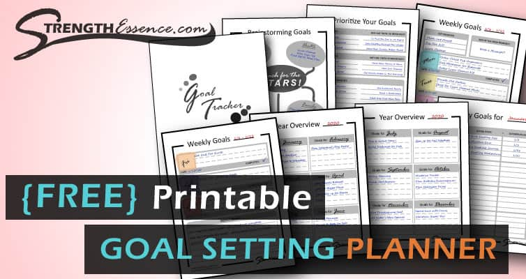 free printable goal setting planner tracker template pdf download