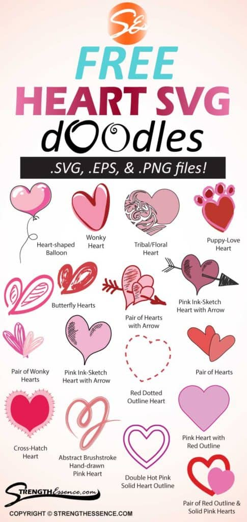 17 Free Heart Doodle Symbols Svg Png Eps Files Strength Essence