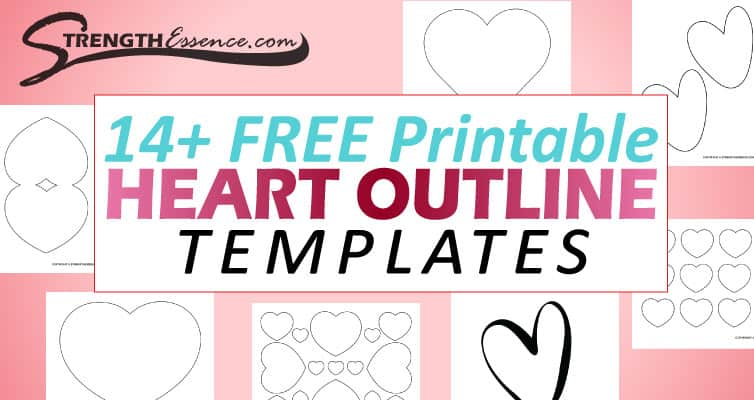 free printable heart outline templates