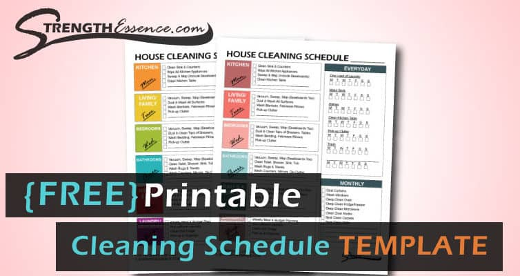 FREE Printable House Cleaning Schedule PDF Template