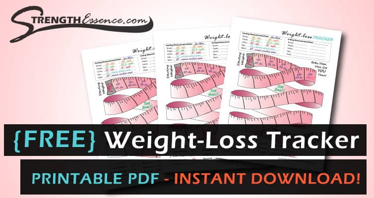 free printable weight loss tracker template pdf