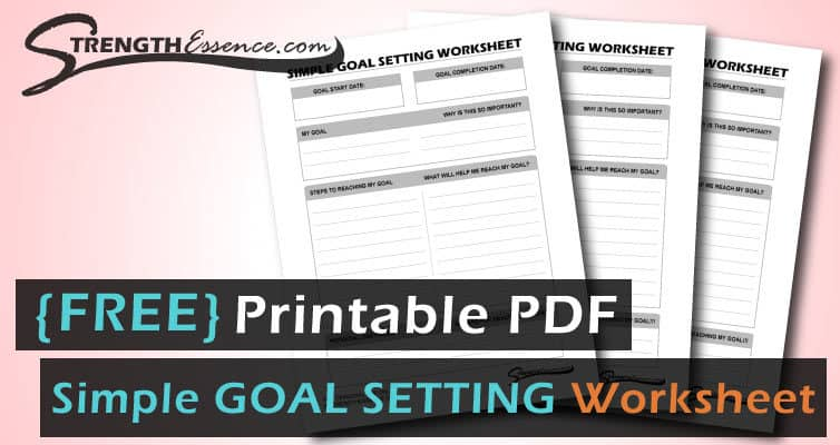 simple goal setting worksheet pdf
