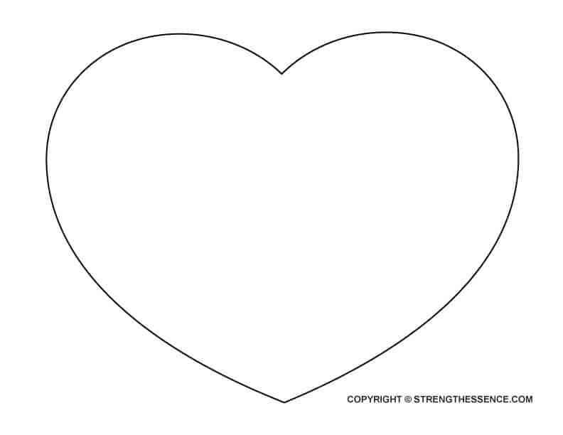 It's just a picture of Trust Large Heart Template Printable