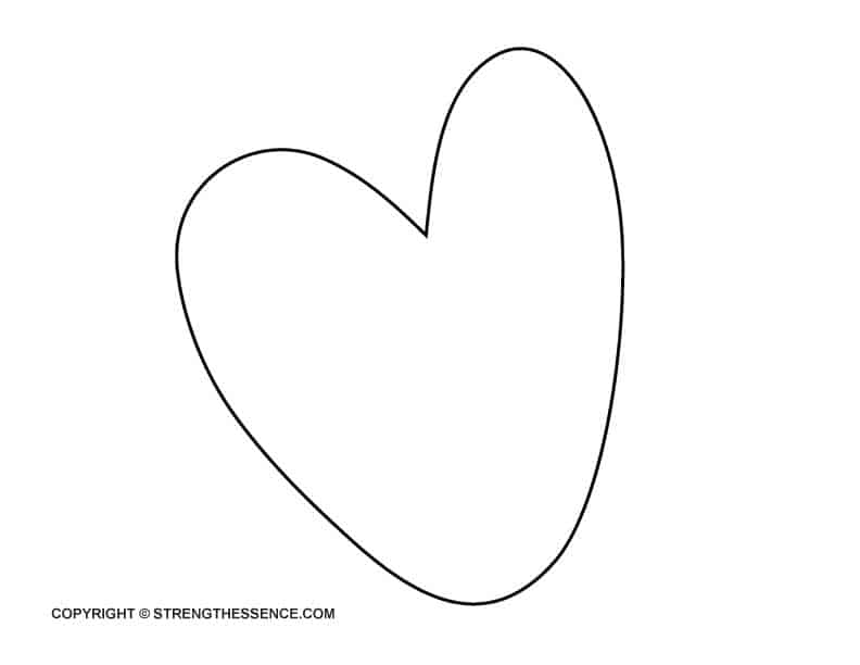 large heart template to print