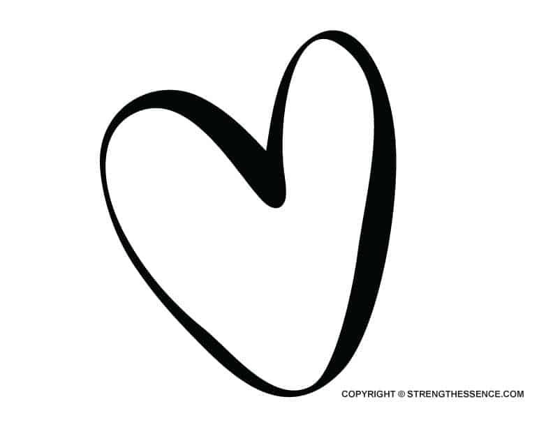 FREE Irregular Large Heart Shape Template