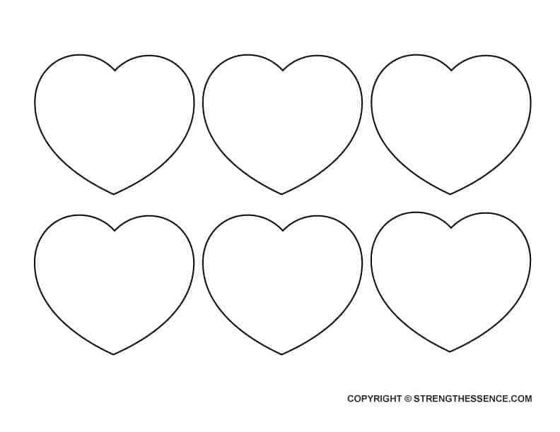 FREE Traceable Medium Heart Template Stencils PDF