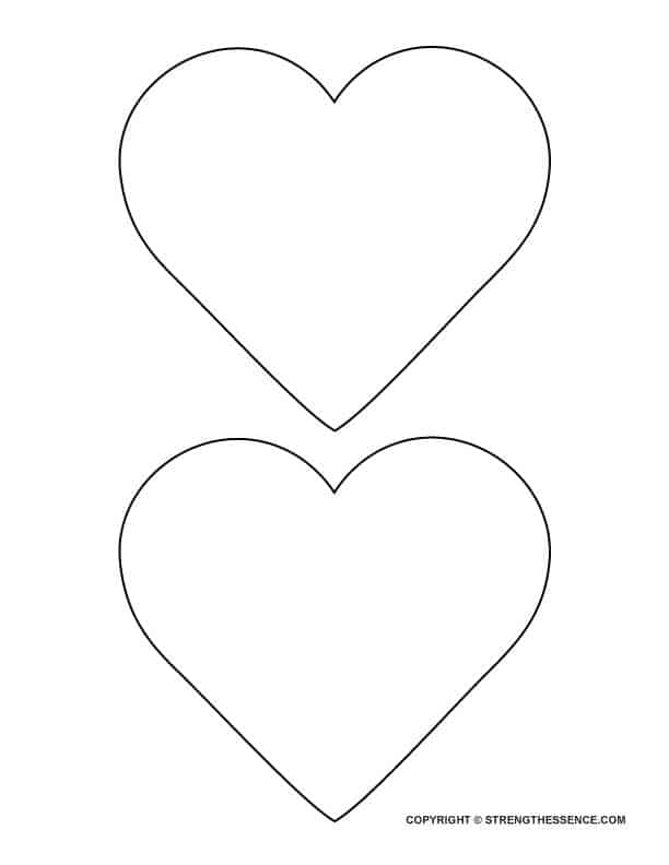 FREE Big Hearts to Trace Printable Template