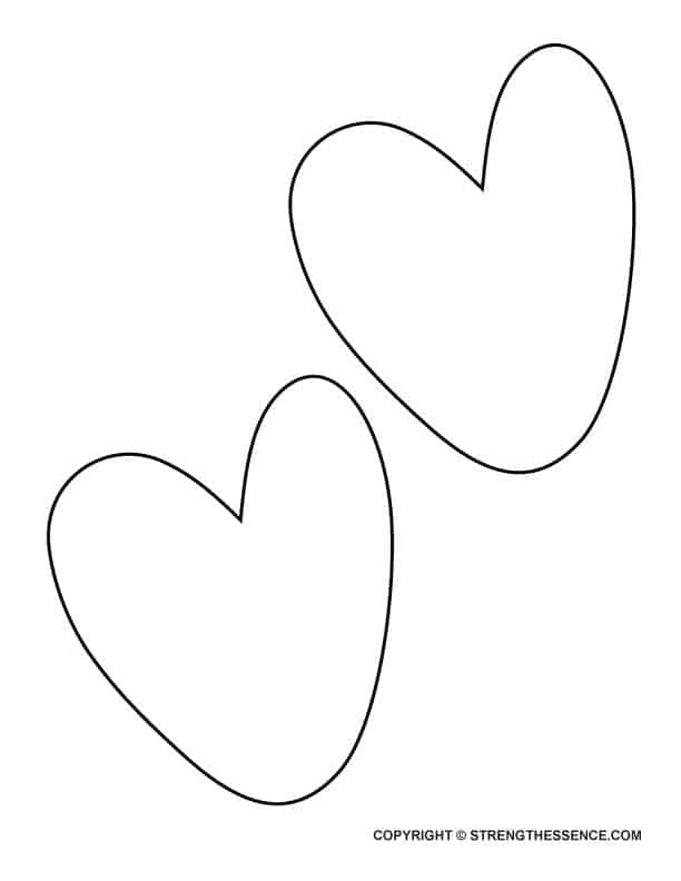 Free Big Wonky Heart Outline Template