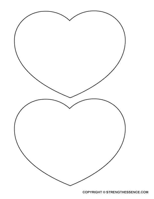 Free Printable Large Wide Heart Stencil Template