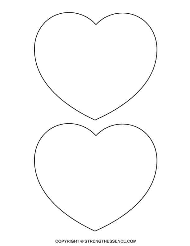 This is a graphic of Trust Large Heart Template Printable