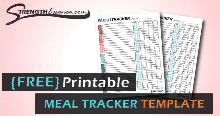 free printable meal tracker pdf template download