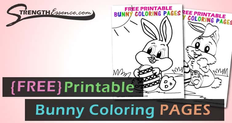 CUTE EASTER Bunny Coloring Pages (FREE Printable PDF ...