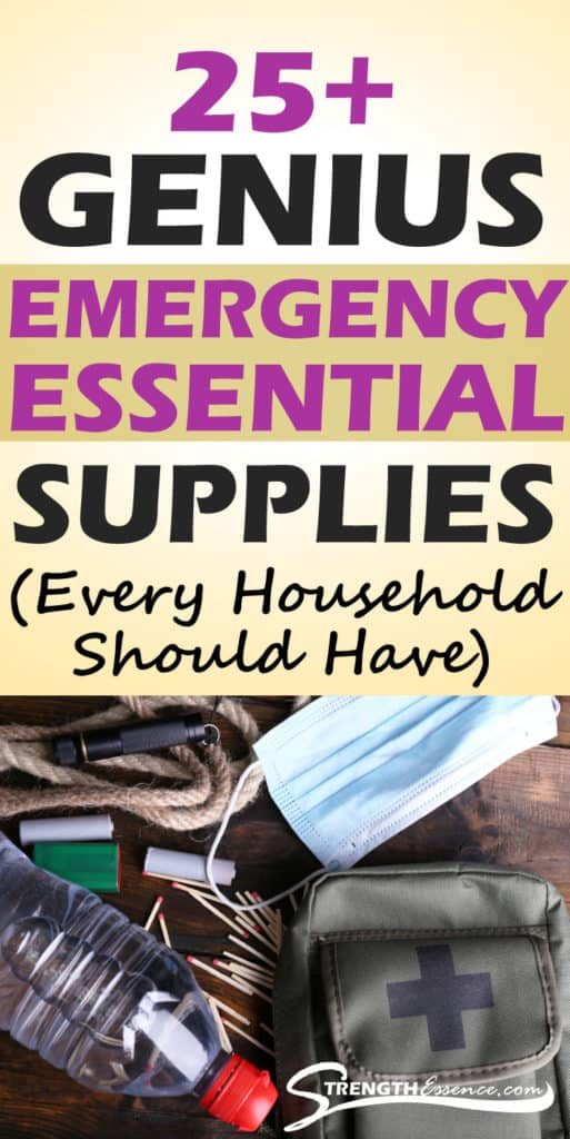 emergency supplies list