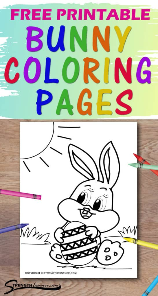 free printable bunny coloring pages