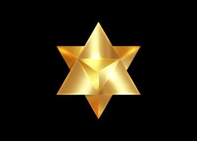 gold merkaba star tetrahedron