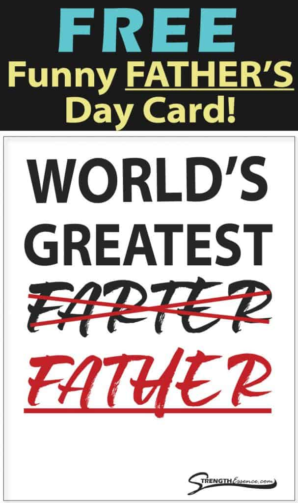 free printable funny fathers day card
