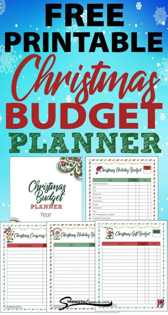 christmas budget planner printable