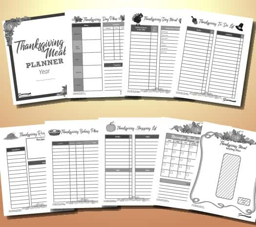 free printable thanksgiving planner template