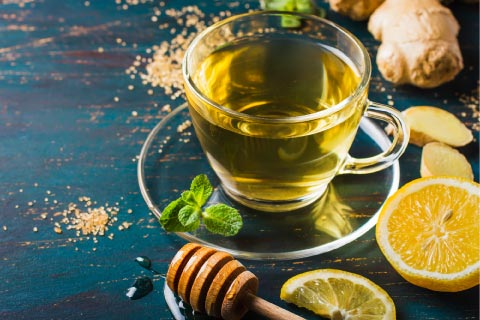 ginger tea for sinus relief