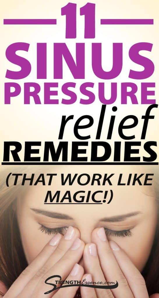 sinus pressure relief remedies