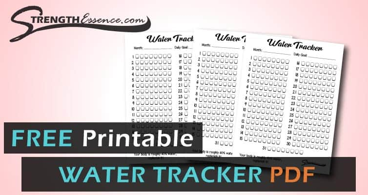 monthly water tracker printable