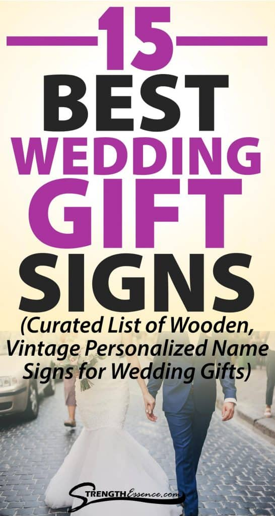 wedding gift signs for home