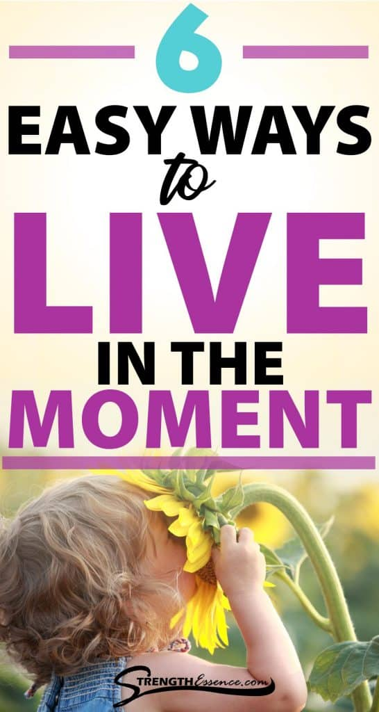 how to be present in the moment