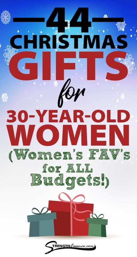 christmas gift ideas for 30 year old woman